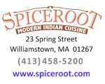 SPICE ROOT Restaurant is located on Spring Street in Williamstown, MA, adjacent to the Williams College campus, in the heart of downtown Williamstown.