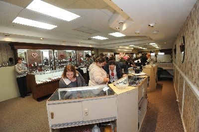 Crown Jewelers - Checking out the baubles at Crown Jewelers!