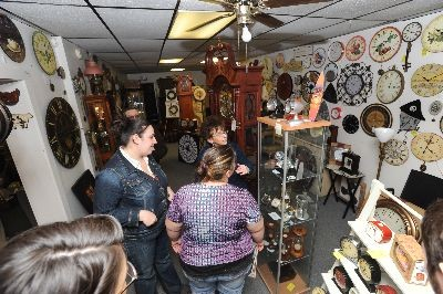 West Side Clock Shop - Look at those awesome clocks at West Side Clock Shop!