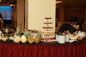 Fruit, yogurt and oatmeal bar (with pastries!)