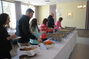 Buffet luncheon provided by Savory Harvest Catering