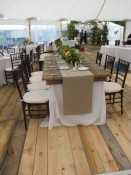 Barn Board flooring and Farm Top Tables